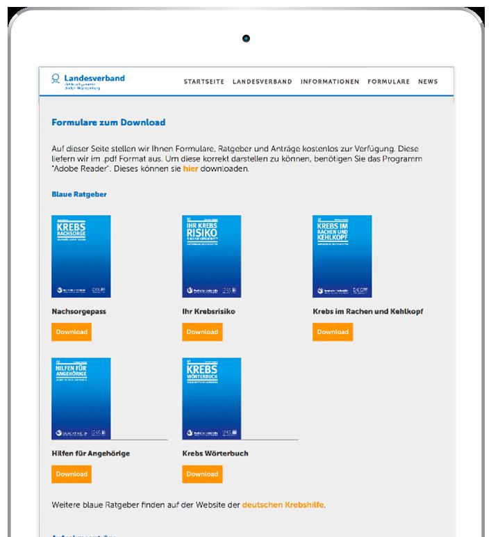 iPad mit Downloadvorschau